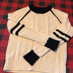 lol Bean signature Fisherman's Sweater cream